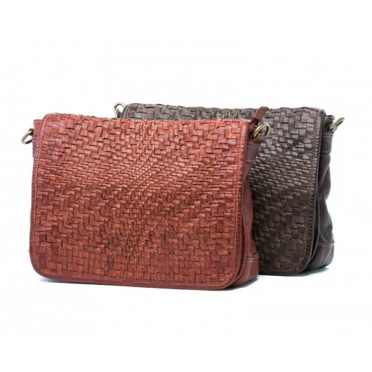 Oran Martha Women's Woven Leather Sling Bag  RH79
