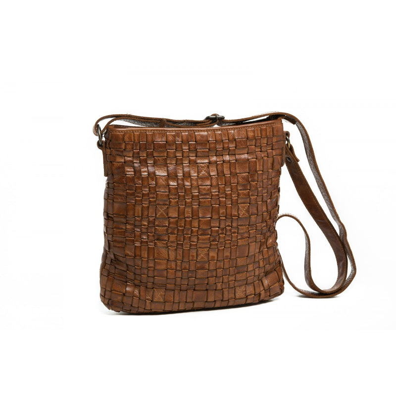 Oran Zara Women's Woven Leather  Crossbody Bag RH33000