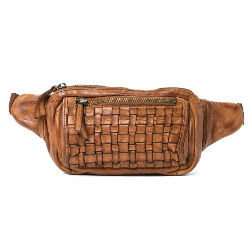 Oran Vienna  Women's Leather Woven Belt Bag  RH36954