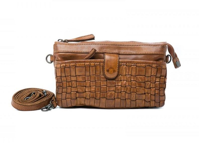 Oran Sadie Woven Leather Crossbody /Clutch Bag  RH32663