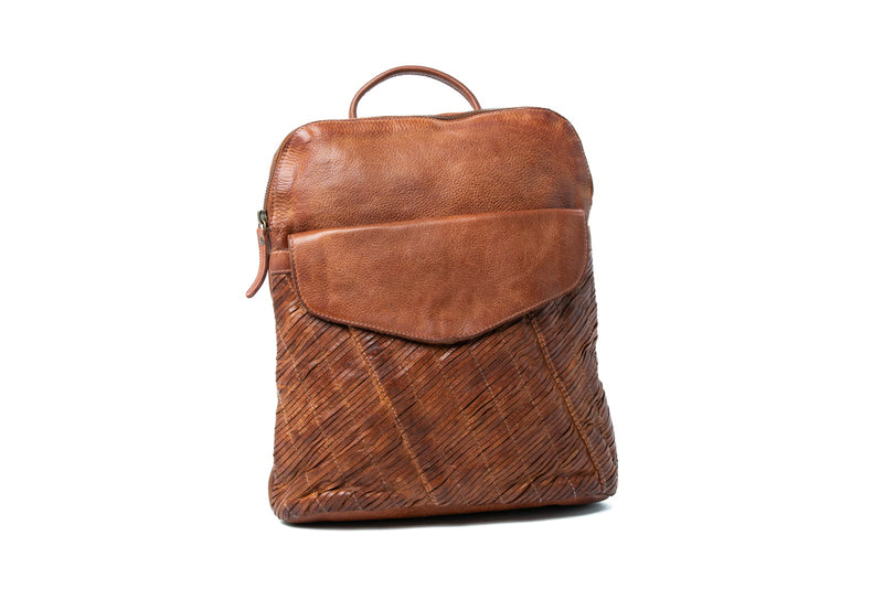 Oran Stella Woven Leather Backpack OR1911