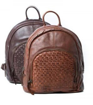 Oran  Kathy Woven Leather Backpack ORRH3032