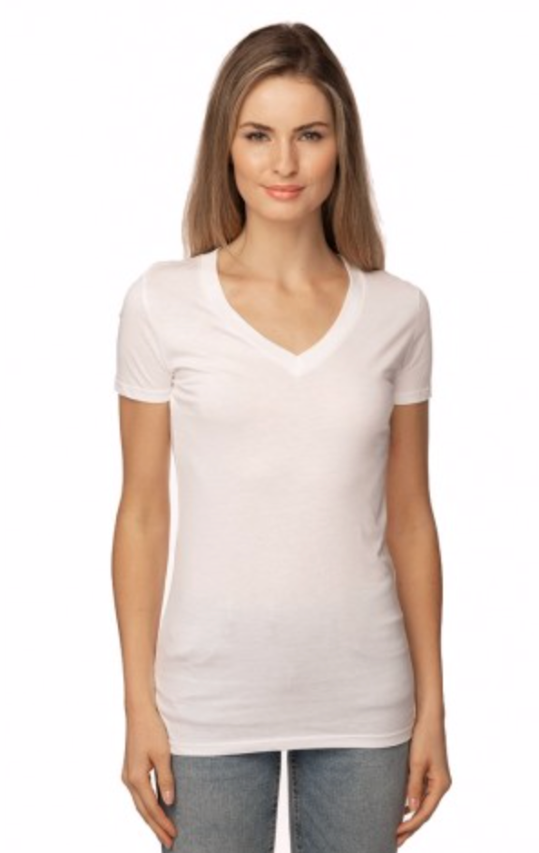 Organic Hemp-Cotton blend T-shirt (Women's V-Neck)