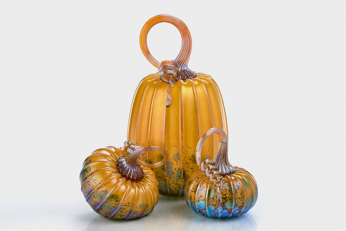 Amber Glass Pumpkin