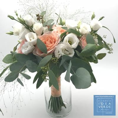 Bouquet Mazzo Lisianthus Rose Peach Avalanche