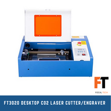Load image into Gallery viewer, FT3020 Desktop CO2 Laser Cutter/Engraver