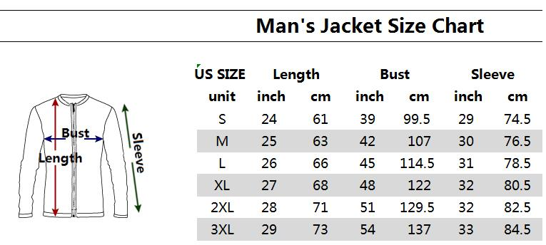 Bomber Jacket Sizing