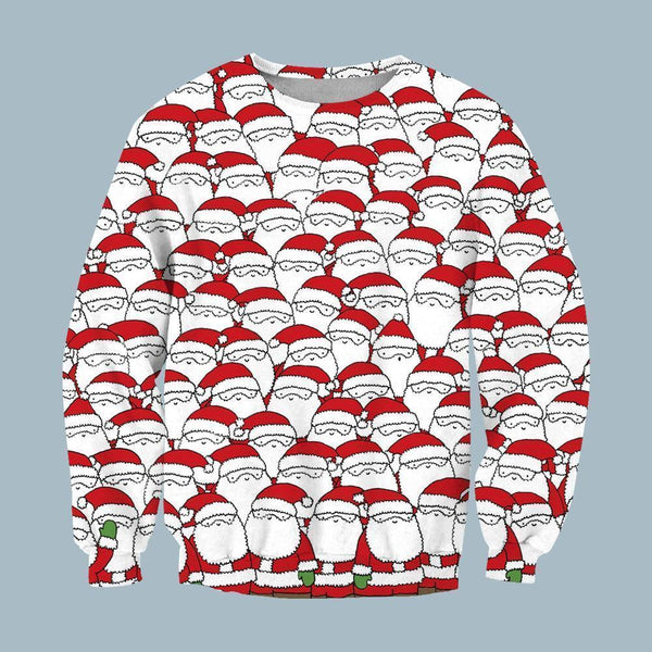 3D All Over Print Can You Spot The Sheep Hidding Among These Santas Christmas Hoodie