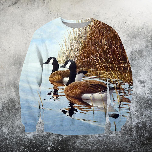 3D All Over Printed Two Canada Geese Shirts