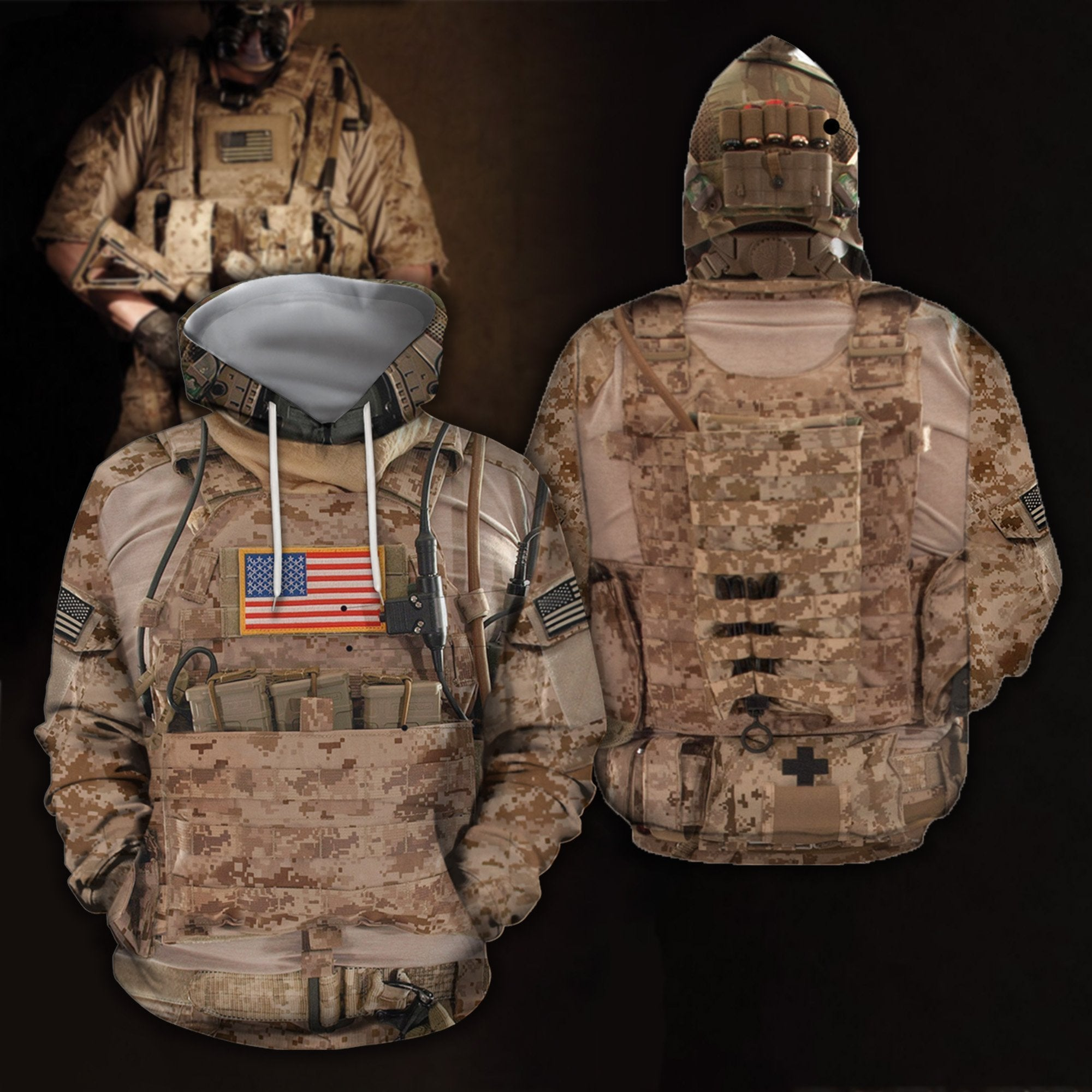 3D All Over Printed US Navy SEAL Uniform