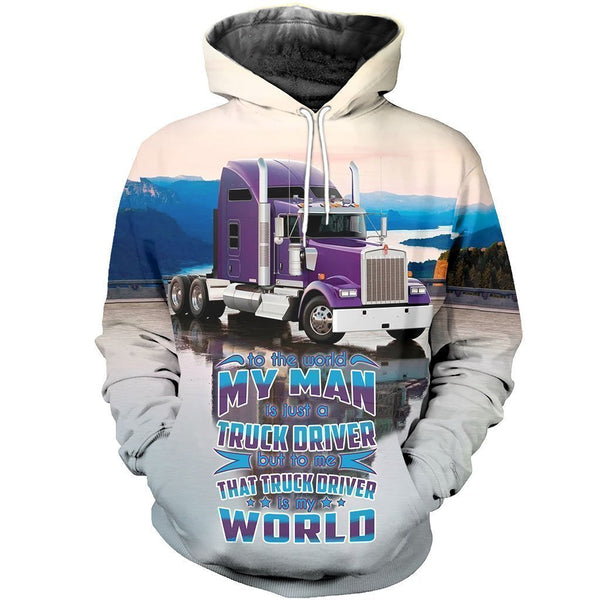 3D All Over Printed Truck Shirt