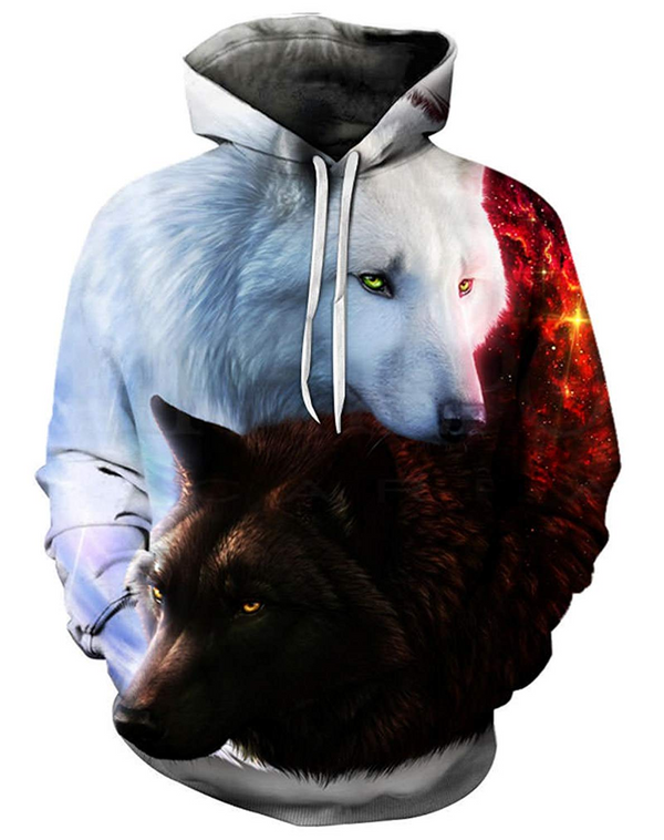 3D All Over Print wolf Hoodie
