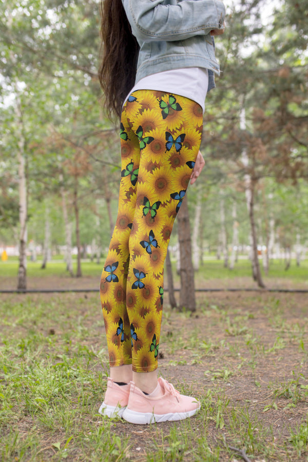 3D All Over Printing Butterfly Garden And Sunflowers Hoodie Dress