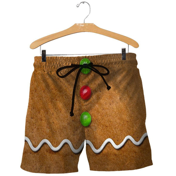 3D All Over Printed Ginger Bread Man Shirts and Shorts