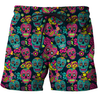 3D All Over Print Colorful Skull Shirts