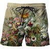 3D All Over Printed Vintage Flowers Shirts And Shorts