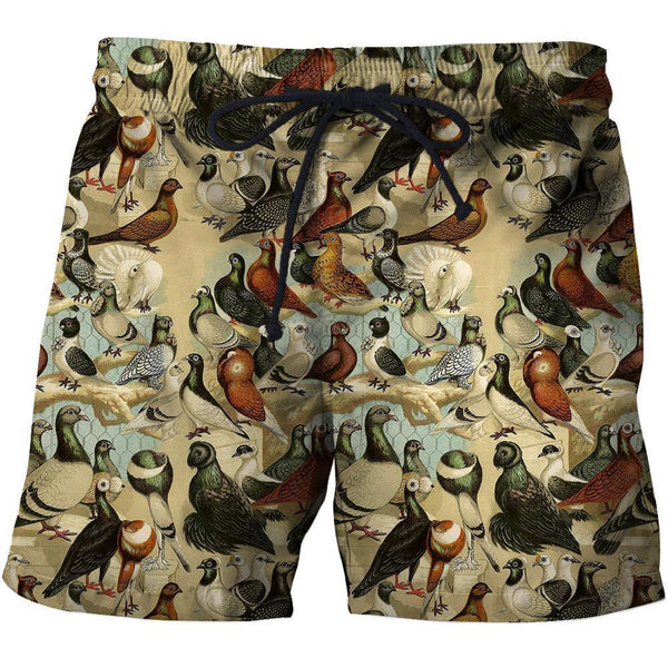 3D All Over Printed Pigeons Shirt and Shorts