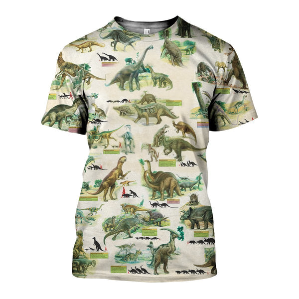 3D All Over Printed Dinosaurs Colleciton Shirts and Shorts