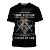 3D All Over Print  Would Rather Stand with God Hoodie