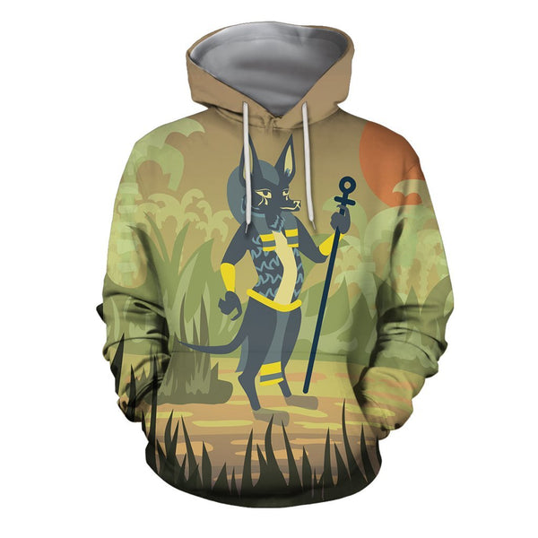 3D All Over Print Anubis Paganism Hoodie