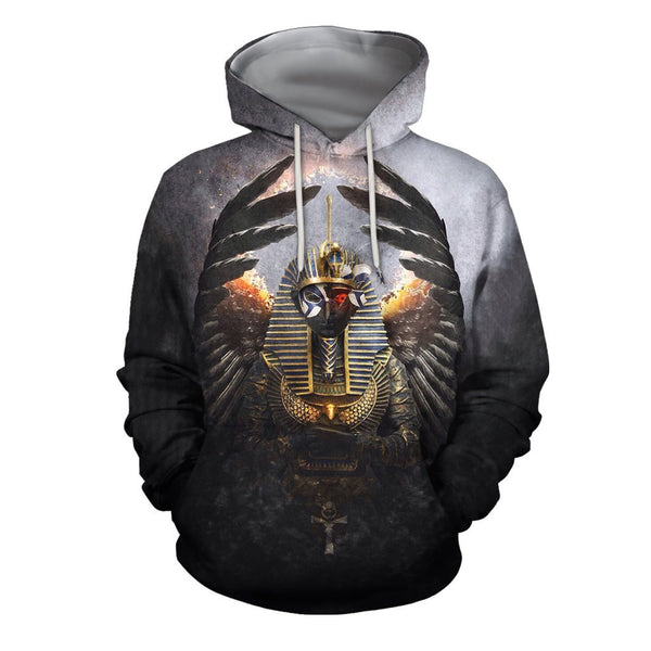 3D All Over Print Horus Egyptian Gods Hoodie
