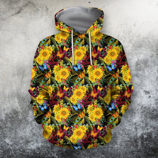 All Over Printing Beautiful Sunflower Hoodie