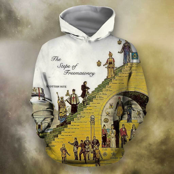 3D All Over Print Hierarchy of Masons Hoodie