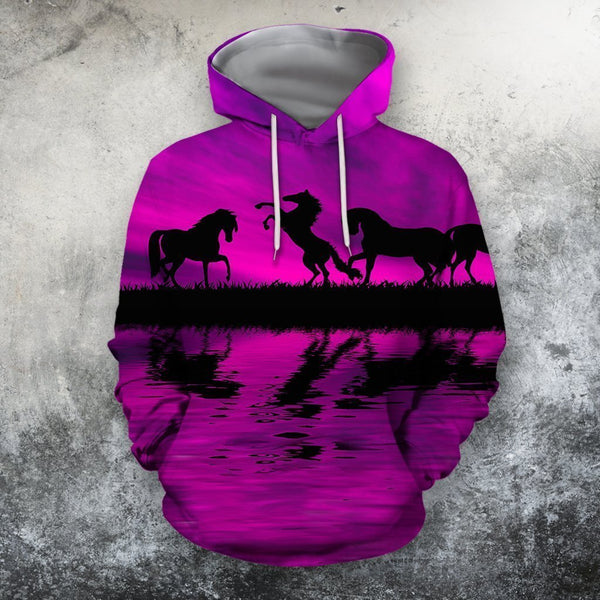 3D All Over Print  Animals Horse Hoodie