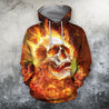 3D All Over Printing Skull Fire Hoodie
