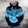 3D All Over Printing Owl Ice Hoodie