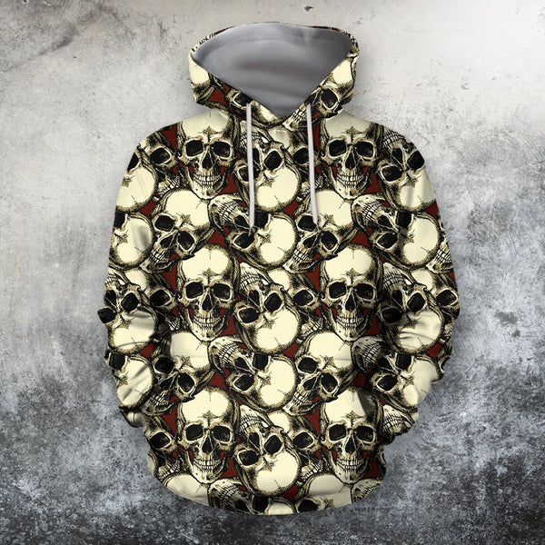 3D AOP The Skull Rose Red Shirts