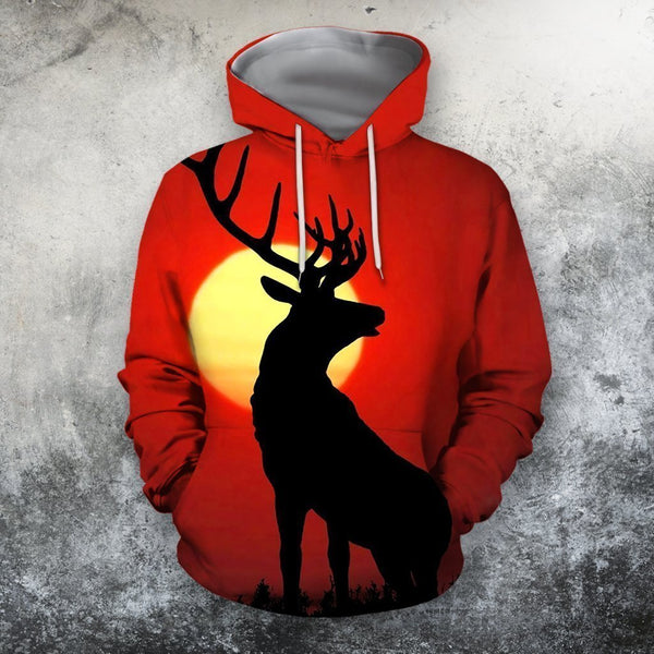 3D All Over Print Deer Sunset Shirts