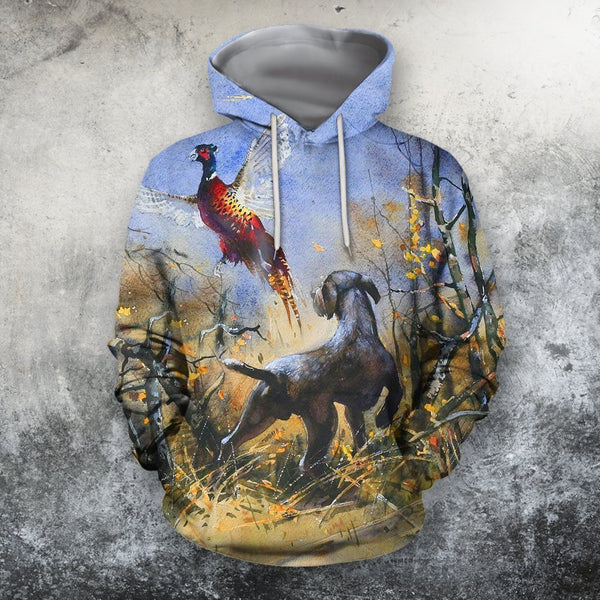 3D All Over Print Hunting Dog Hoodie