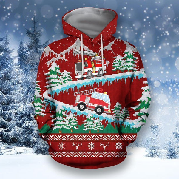 3D All Over Printed Firefighter Sweater