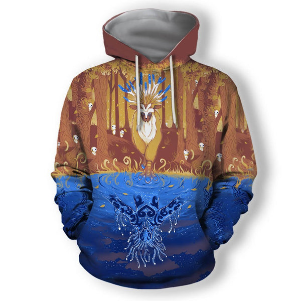 3D All Over Print Autumn Forest Spirit Hoodie