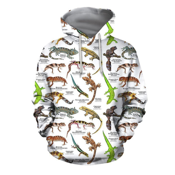 3D All Over Printed Geckos of the World Shirts And Shorts
