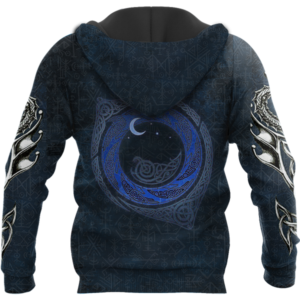 VIKING DRAGON ALL OVER PRINT HOODIE