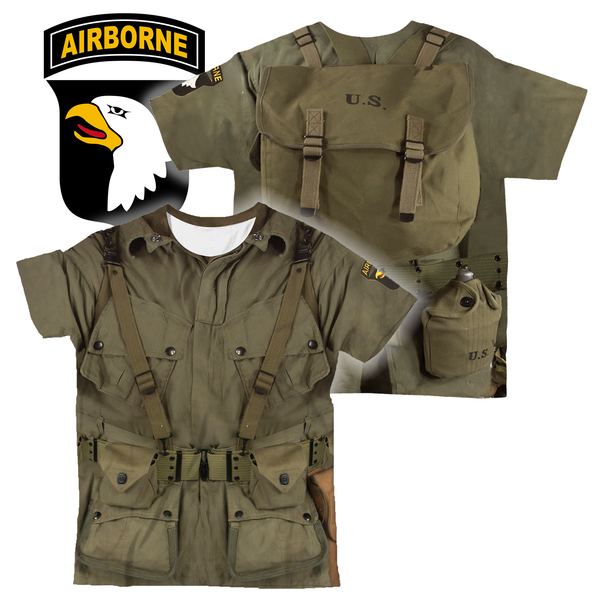 3D All Over Printed WW2 Paratroopers Uniform