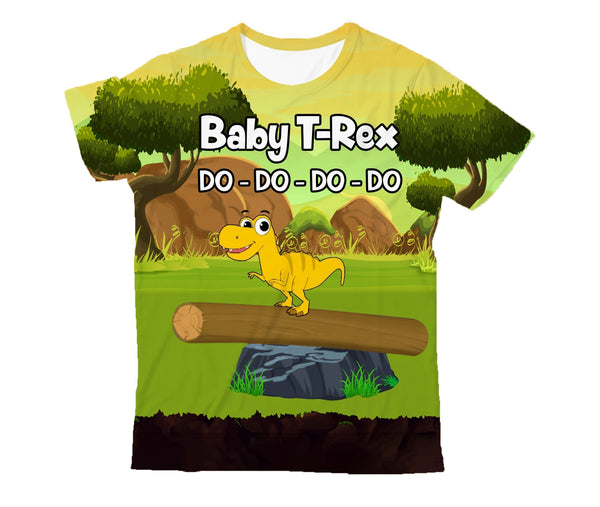 3D All Over Printed Baby T-Rex Shirts