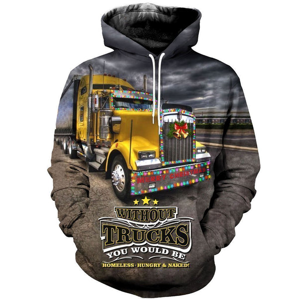 3D All Over Printed Christmas Truck Shirts and Shorts