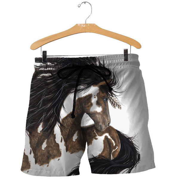 3D All Over Printed Boho Horse Shirts and Shorts