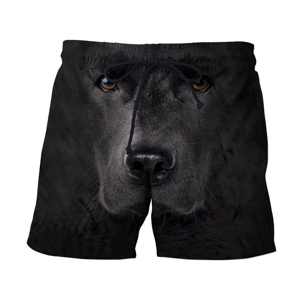 3D All Over Print Black Labrador Face