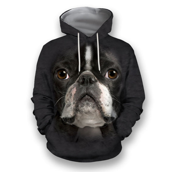 3D All Over Print Boston Terrier Face