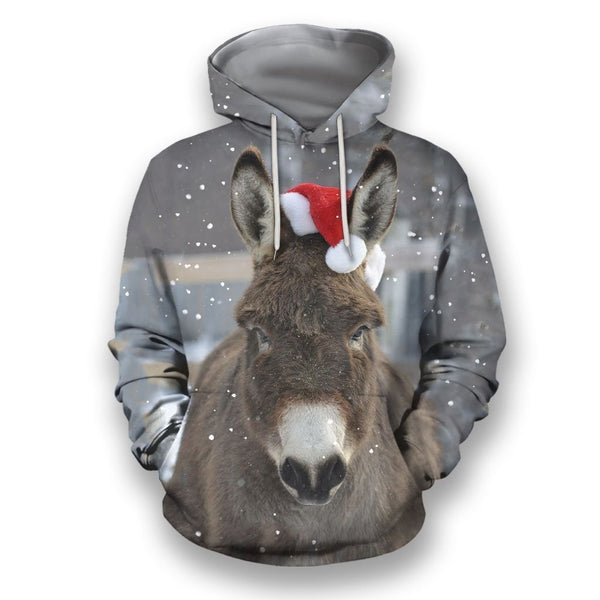 3D All Over Print Christmas Donkey