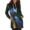 All Over Printed Parrots Hoodie Dress H232B