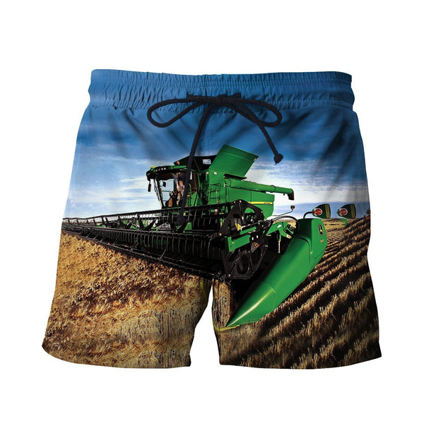 3D All Over Printed Green combine Shirts And Shorts