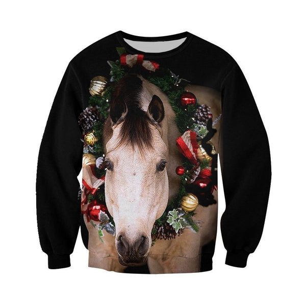 3D All Over Printed Horse Christmas Shirts and Shorts