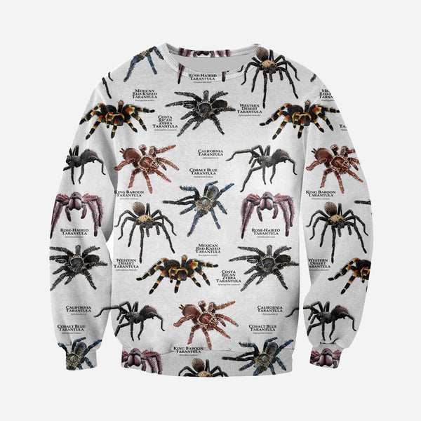 3D All Over Printed Tarantulas of the World Shirts