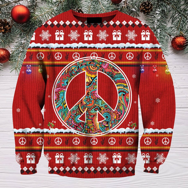 3D All Over Print christmas Hippie Hoodie