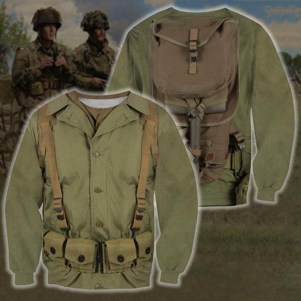 3D All Over Printed U.S. WWII Soldier Shirts